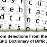 The Random Selections From the 1994 ed. of the QPB Dictionary of Difficult Words Printy
