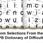 The Random Selections From the 1994 ed. of the QPB Dictionary of Difficult Words II Printy