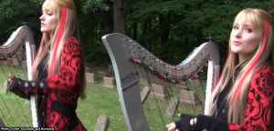 Screen Cap from The harp Twins Trooper Video
