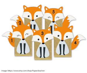 Papierdrachen's Advent Foxes