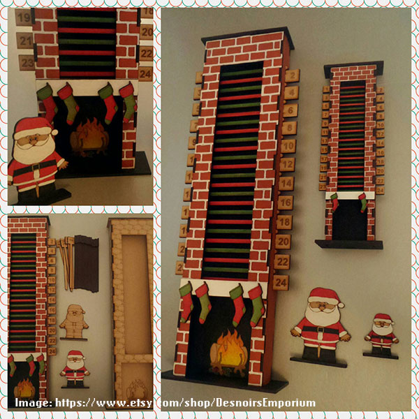 Santa Down the Chimney - DesnoirsEmporium