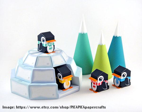 Igloo Advent Calendar - PICAPICApapercrafts