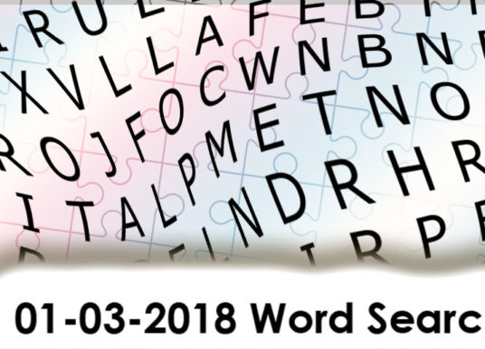 01-03-2018 Word Puzzle