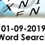 01-09-2019 Word Search